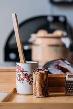 Kitchenware For Cooking Japanese Food On Table