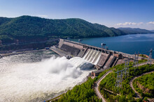 Hydroelectric Dam On The River,