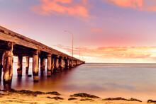 Sunset View Near Pier
