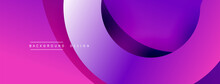 Abstract Overlapping Lines And Circles Geometric Background With Gradient Colors