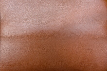 Brown Leather Texture Background, Close Up Shot