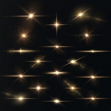 Light Rays Of Light Horizontal Golden Color With Glare And Flashes Isolated On A Transparent Background. Light Star Gold Png. Light Sun Gold Png. Light Flash Gold Png. Powder Png.