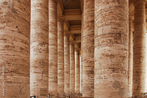Fotografering Colonnades or columns of St Peter's Square, Vatican