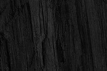 Elegant And Abstract Black Background. Black Wood Texture. Dark Coal Background Close Up.