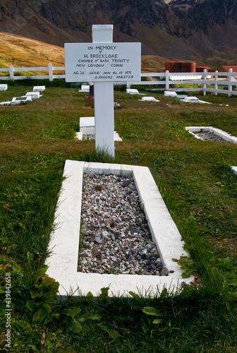 Fotografia Begraafplaats Grytviken Zuid Georgia, Graveyard Grytviken South Georgia