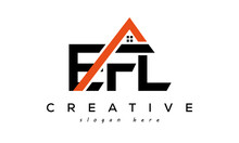 EFL Letters Real Estate Construction Logo Vector