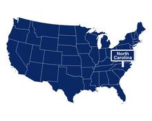 Der Bundesstaat North Carolina Mit Straßenschild