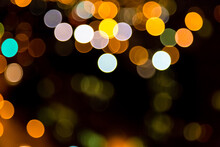 Christmas And Street Bokeh Fairy Lights Background