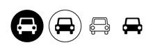 Car Icon Set. Car Vector Icon. Small Sedan