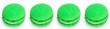 Leinwandbild Motiv Green tea French macarons. lime macaroons cake, delicious sweet dessert on white background, lovely food concept. Green macaroons without shadow isolated on white background. High quality photo
