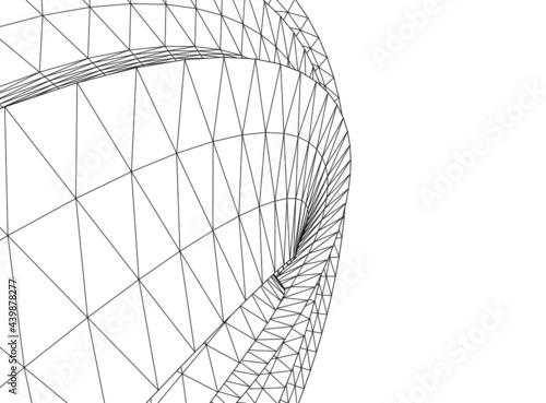 Fotografie, Obraz architecture drawing on white background
