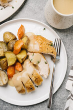 Roasted Rosemary Chicken And Veggies