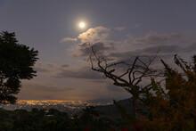 Moonlit Night Over City Of San Jose, Costa Rica