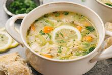 Lemon Orzo Chicken Soup Dinner