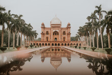 Facade Of Safdarjung Mausoleum Surrounded By Trees