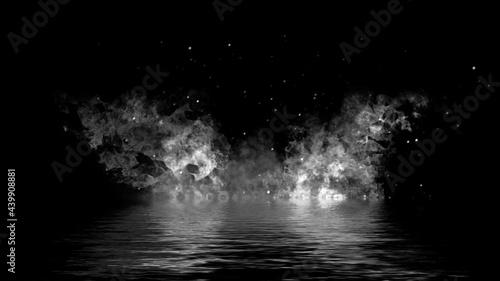 Canvastavla Fire on isolated background
