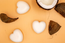 Photos Of Coconut Oil-based Household Soap In The Shape Of A Heart