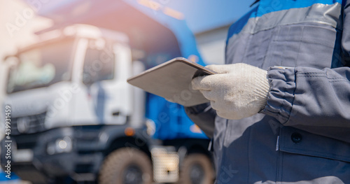 Fotografia Concept banner automated logistics online internet