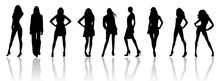 Fashion Style Silhouette Vector Collection