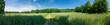 Feld und Wiesen Panorama mit Weg in Oberösterreich