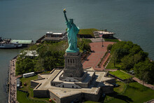 Statue Of Liberty From Helicopter