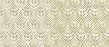 Fish Scales Seamless Pattern. Vector Monochrome Illustration