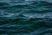 Closeup Shot Of Deep Blue Sea Waves