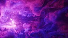 Heavenly Starlight Night Sky, Magical And Romantic Twilight Colors Of Purple Blue Clouds Slowly Moving Past In Time Lapse. Make Fantasy A Reality With This Backdrop.