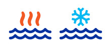 Hot And Cold Water Vector Illustration.
