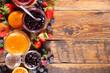Leinwandbild Motiv assortment of jam and fresh fruits