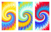 Abstract Festive Colorful Background, Bright Multicolor Tie Dye Pattern