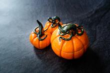 Handmade Ceramic Pumpkin With Cap. Ready To Use.