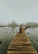 Scenic View Of Misty Morning At Ninh Binh, Vietnam.