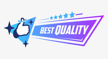 Best Quality. Vector Banner. Button. Five Stars. Thumbs Up. Isolated. Shop Tag. Recommended. Best Choice. Arrow. Pointer. Modern Gradient. Nimbus. Sale And Discount. Icon. Sticker. Special Offer