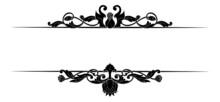 Decorative Hand Drawn Classic Vintage Ornament. Set Retro Hand Drawn Text Dividers Victorian Old Frames. Text Lines Vintage Border Scribble Dividing Line Elements Doodle Vector Illustration