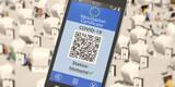 Digitaler Impfausweis (Covid-19) wird auf Smartphone angezeigt