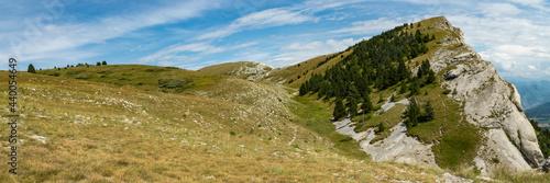 Canvas-taulu Panorama sur un sommet de montagne