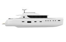 Pleasure Yacht Isolated