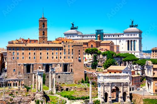 Fotografie, Obraz Rear view of the Campidoglio