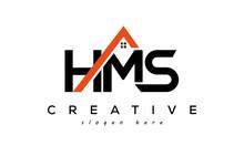 HMS Letters Real Estate Construction Logo Vector