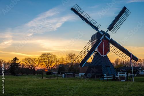 Wallpaper Mural A traditional dutch polder windmill from 1830 in Oud-Zuilen, Province of Utrecht