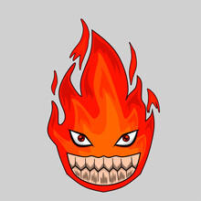 Illustration Of A Burning Fire