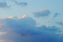 Blue Cumulus Clouds Natural Background
