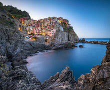 Manarola Is One Of The Five Towns Of The Cinque Terre, Liguria, Italy