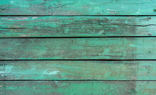 Texture Of Rustic Old Green Wood