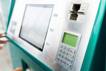 Numeric Keypad Of ATM Machine By Device Screen