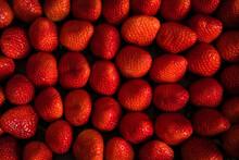 Full Frame Of Fresh Ripe Strawberries