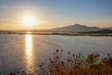Sunset Over Amvrakikos Wetlands National Park