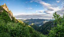 Valley Near Lake Idro In Province Of Brescia, Lombardy, Italy