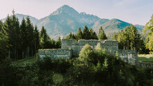 Old Fort Claudia Amidst Forest At Reutte, Tirol, Austria